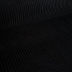 Rekbare Corduroy Rib black