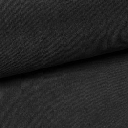 Babycord Zwart 21W Washed