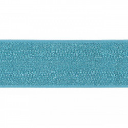 Elastiek Lurex Aqua 4cm