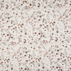 Cotton Voile Flowers Old Mauve