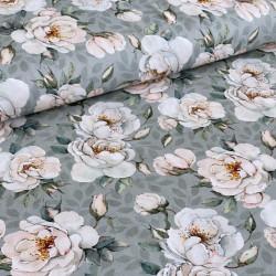 Botanic Flower Mintgrey Jersey