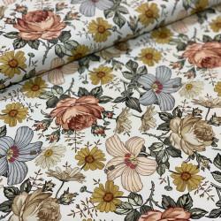 Light Vintage Flowers Jersey