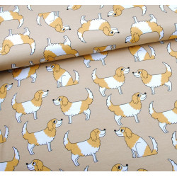 Doggy Beige Cotton Jersey EM
