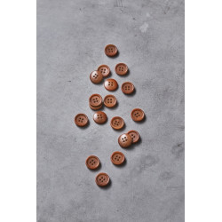 Dish Corozo Button Rust 15mm
