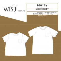 Matty shirt – naaipatroon...