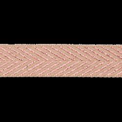 Visgraat Keperband Rose