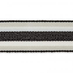 Ripsband Wit/Zwart