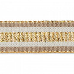 Ripsband Wit/Goud