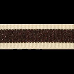 Ripsband Bruin/Koper
