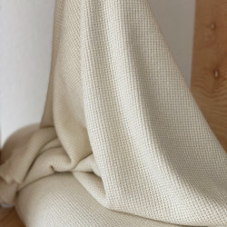 Soft Knit Lurex Ecru