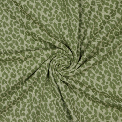 Jacquard Leopard Olive Drab