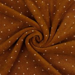 Rekbare Badstof Triangle Brown