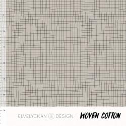 Woven Cotton Grid Desert