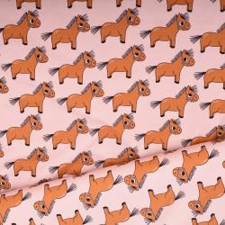 Pony Pink Cotton Jersey EM