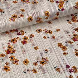 Floral Satin Lurex Off-White