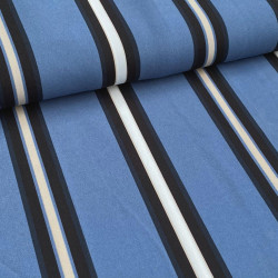Multistripe Breed Blauw