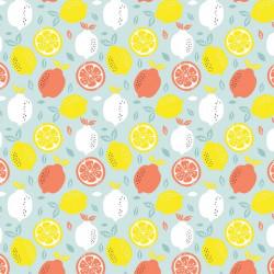 Poplin Katoen Fresh Lemon...