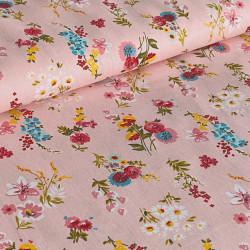 Poplin Flowery Pink