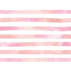 Aquarelle Streep Roze Jersey