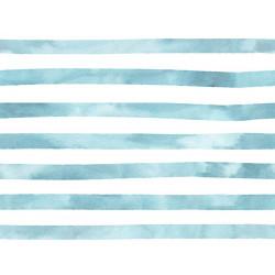 Aquarelle Streep Blauw Jersey