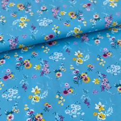 Poplin Flowery Blauw