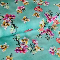 Aquarel Flowers Oud Groen MB