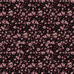 Jersey Flowery Zwart