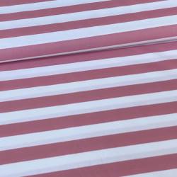 Poplin Stripe Mauve