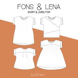 Fons shirt & Lena jurk/top...