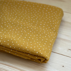 Double Gauze Little Dots Ochre