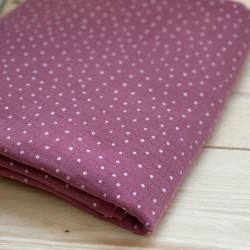 Double Gauze Little Dots Mauve