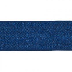 Elastiek Lurex Blauw 4cm