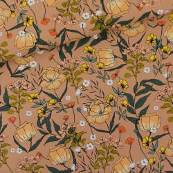 Summer Flowers Camel Brown...