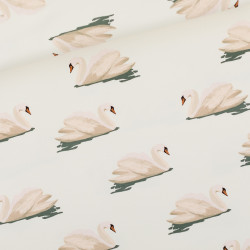 Swan Cloud White French Terry