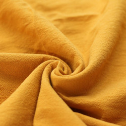 Washed Cotton Ochre Yellow