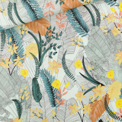 Tropic Flower Viscose Rayon