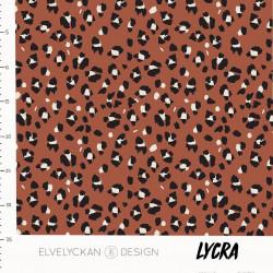 Lycra Lynx Dots Rust