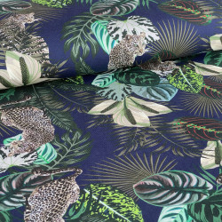 Jungle Navy Digitale Tricot