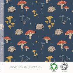Mushrooms - Dark Blue (015)