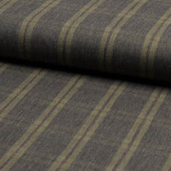 Viscose Metallic Check Khaki