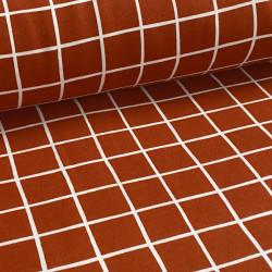 Sweat Brushed Grid GOTS...