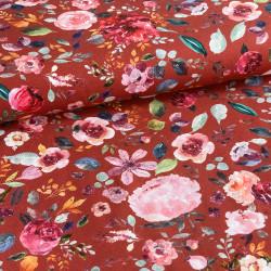 Digital Jersey GOTS Flowers...