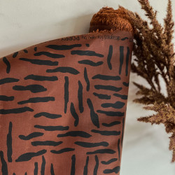Oil Skin Zebra Cognac