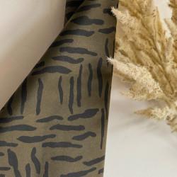 Oil Skin Zebra Khaki