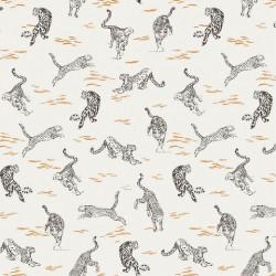 Linen Viscose Leopard
