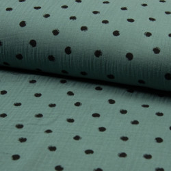 Hydrofiel Dots Dusty Green