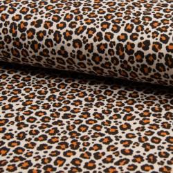 Jersey Rib Leopard Beige