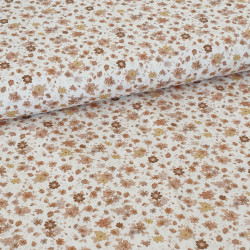 Cotton Deluxe Flowers Camel...