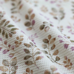 Wafel Knit Jersey Bladeren...