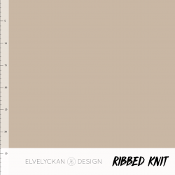 Ribbed Knit - Cappuccino (038)
